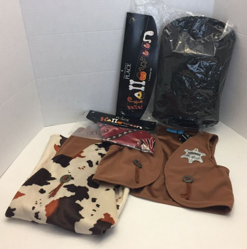 NWT Children's Place 4pc. Cowboy Sheriff Costume 7/8 Halloween