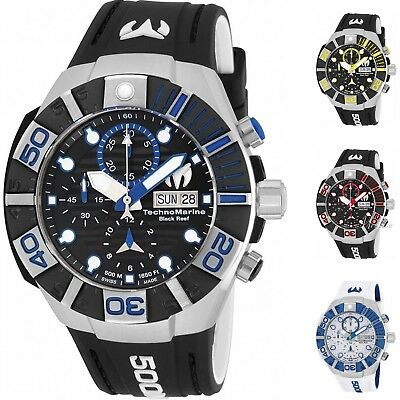 Technomarine Men's Swiss Automatic Chronograph 500M 45mm Watch - Choice of Color Automatic Chronograph Swiss Wrist Watch