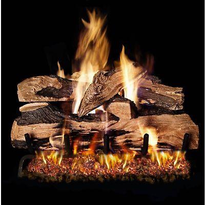 Peterson Real Fyre 24-inch Split Oak Designer Plus Gas Log Set With Vented P