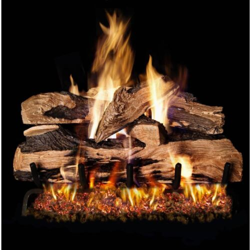 Peterson Real Fyre 18-inch Split Oak Designer Plus Gas Log Set With Vented P