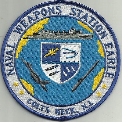NAVAL WEAPONS STATION EARLE COLTS NECK, NJ New Jersey Military Patch
