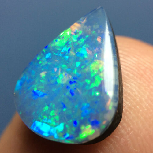 2.70ct SPARKLY Brazilian Brazil Opal DOUBLET (2) ~ Wonderful PINFIRE ~ VIDEO