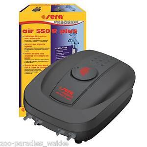 sera air 550 R plus Membranpumpe, Durchlüfter, Sauerstoffpumpe Aquarium + Teich
