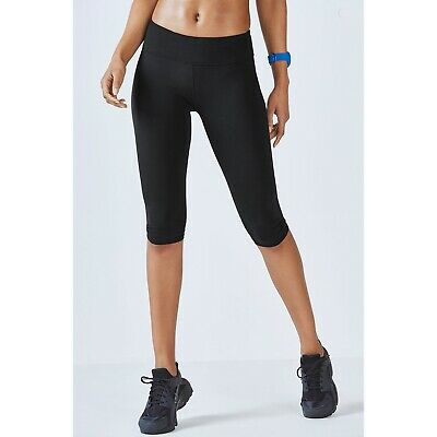 FABLETICS Womens Leggings Size XS Powerhold Capri Crop Mid Rise Tight Black NWT