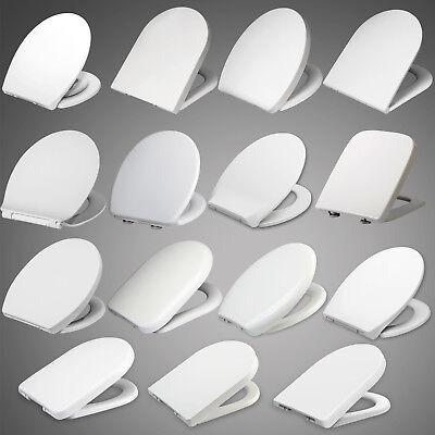 Toilettendeckel WC Sitz Klodeckel mit ABSENKAUTOMATIK Toilettenbrille Weiß #62-1