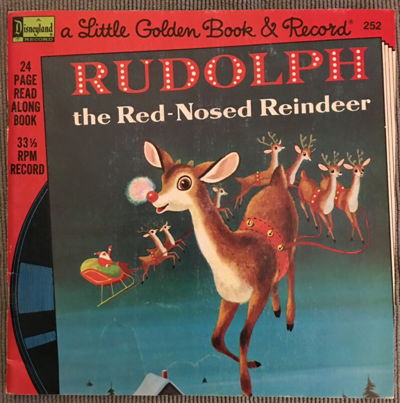 A Little Golden Book and Record; Rudolph the Red Nosed Reindeer 1976 #252