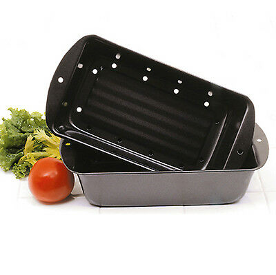 Norpro 4672 Nonstick 2pc Meatloaf Meat Bread Pound Cake Pan With Broiler Insert on Sale