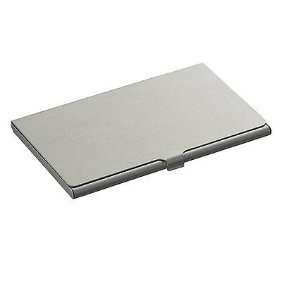 Metal Business Card Holder Credit Coins Slim Snap Shut Pocket Wallet ID Gift NEW