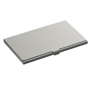 Metal Business Card Holder Credit Coins Slim Snap Shut Pocket Wallet ID Gift NEW