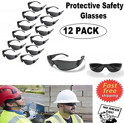 12 Pack Eyewear UV Protective Safety Glasses Smoke Goggles Protection Work Eye