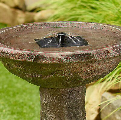 Bedrock Solar Bird Bath Fountain by Smart Solar ()