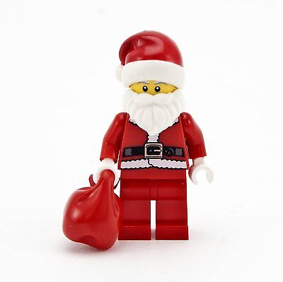 Lego   Holiday Minifigure   Santa Claus With Red Sack  10245