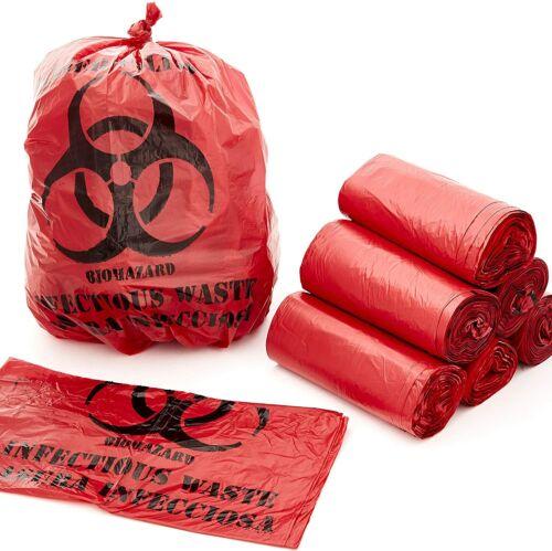 Biohazard Waste Bags 50 Pk. 10 Gallon