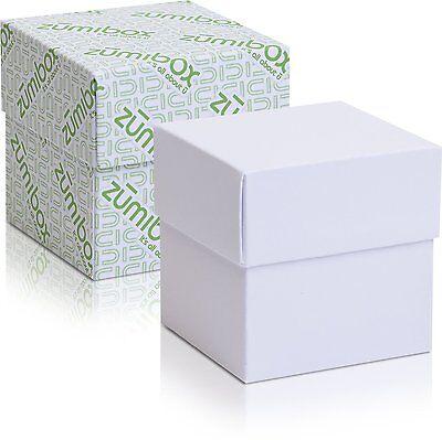 DIY Customizable Two-Piece Matte White Cube Gift Box Favor (Two Piece Gift Box)