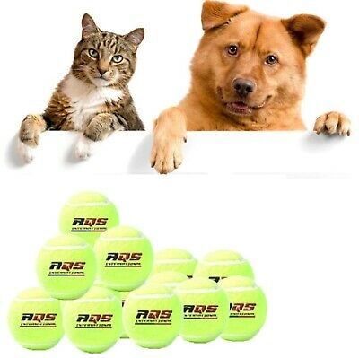 10 x AQS Tennis Balls Green For Pets Puppy Play Dog Cat Toys Walking New