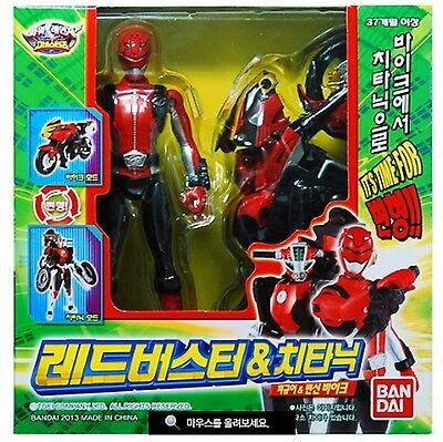 BANDAI Power Rangers GO-Busters RED BUSTER & CHEEDA NICK Tokumei sentai Figure