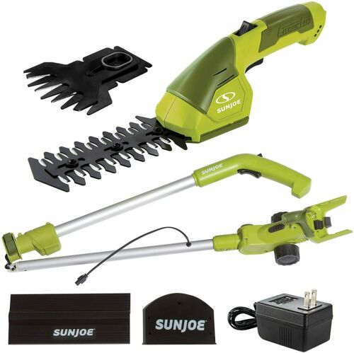 HJ605CC Cordless 2-in-1 Grass Shear + Hedge Trimmer wExtension Pole, Green