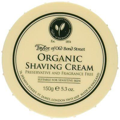 Taylor of Old Bond Street Organic Shaving Cream Bowl 150 g Best Price Free P&P  for sale  Cannock
