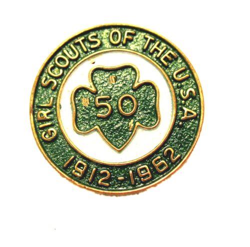 Girl Scout PIN Official 50th Anniversary 1962 Memorabilia Reduced Price Combine