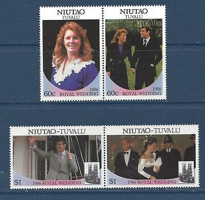 TUVALU - NIUTAO - 51-52 -  MNH - 1986 - ROYAL WEDDING -