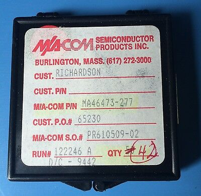 Ma46473-277 Ma-com Semiconductor Varactor Diode Single Chip Die 42units
