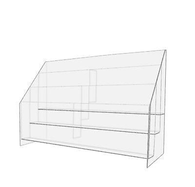 6 Pocket Tiered Magazine Holder Desktop Clear Acrylic  Tier Desktop Magazine Holder