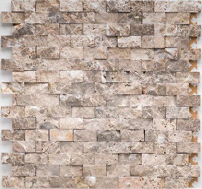 Emperador Braun Marmor (Naturstein Mosaik Marmor Marron braun  Emperador dark brick |10Matten|ES-53322_f)