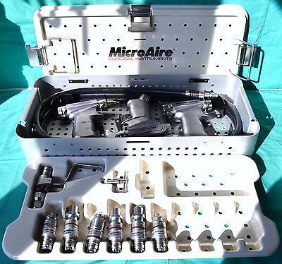 Zimmer Microaire Powermaster Pneumatic Set Saw Drill 7100 Attachments Hose