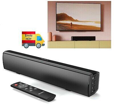 BARRA DE SONIDO ALTAVOZ 50W CABLE AUX BLUETOOTH MP3 USB OPTICA MANDO...