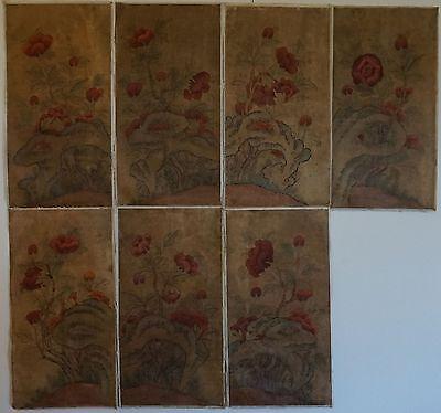 Very Fine Korean 19th Century Joseon Dynasty MinHwa MoRanDo 6 Panels