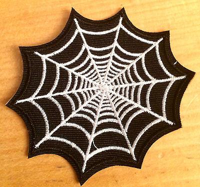 Spinnennetz Aufnäher / Aufbügler spider web patch Gothic - Halloween Spider Web