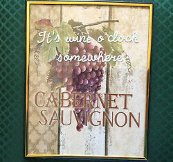 ITS WINE O'CLOCK SOMEWHERE WALL PICTURE - HOME - KITCHEN BAR
