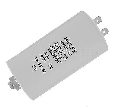 Kondensator Motorkondensator Anlaufkondensator 45µF 45uF 45 µF uF mit Kabel