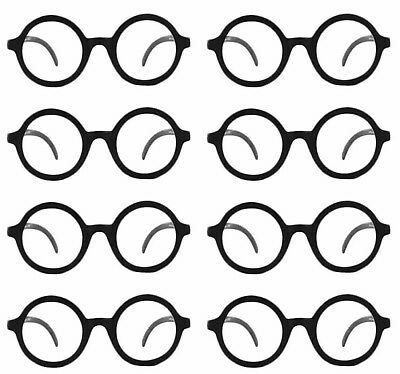 Eight 8 Daria Costume Glasses UV 400 Nerd Bookworm Round Eye Dress Up Halloween