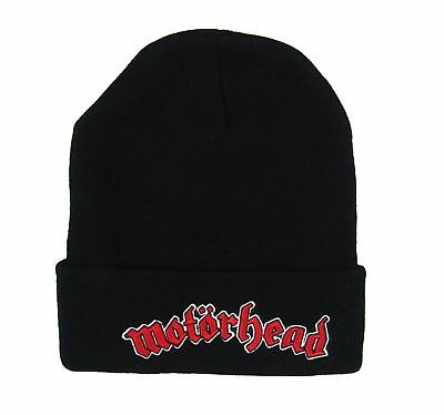 6b6c0d1ff31 Motorhead Red Logo Black Beanie Winter Ski Hat New Official Adult Band Merch