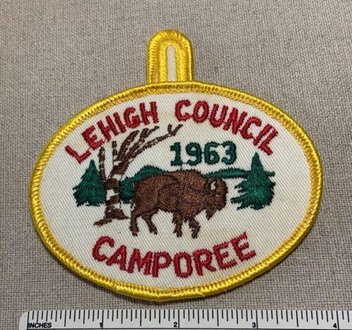 Vintage 1963 LEHIGH COUNCIL Boy Scout Camporee PATCH BSA Camp Buffalo PA Scouts