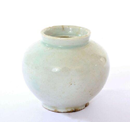 Joseon Dynasty Korean White Glaze Pottery Ceramic Small Jar Vase