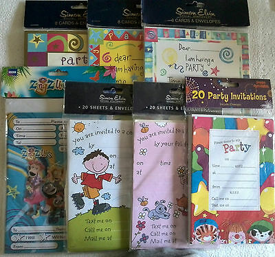 Party Invitations - Sheets, Cards & Party Loot Bags - Buy 1 Get 1 Half Price