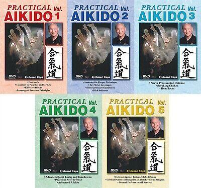 5 DVD SET Practical Aikido real-life Street Self Defense Robert Koga LAPD