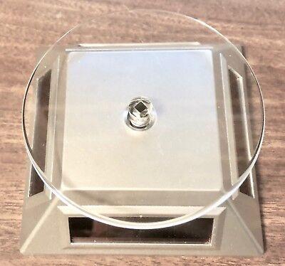 Silver Solarlight Powered Rotating Display Gemsjewelrycraftsmodels More