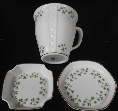 Royal Tara Fine Bone China Made in Galway Republic of Ireland Cup 2 Saucers MINT