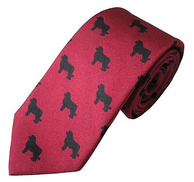 Newfoundland Necktie Dog Breed K9 Woven Silk Men's Attire Clothing Accessory Tie