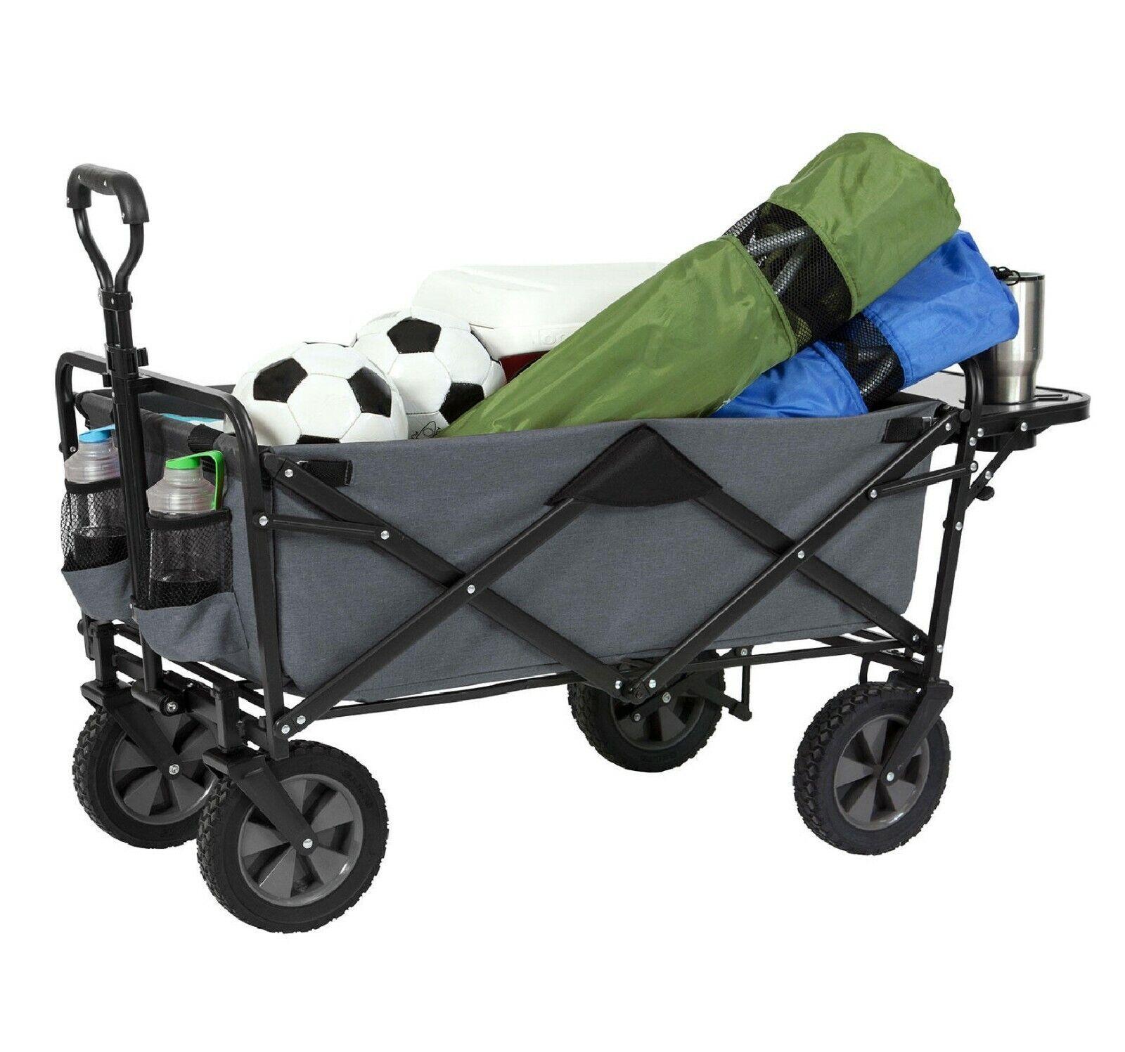 Folding Wagon Sports Utility Beach Cart with Table Mac Suppl