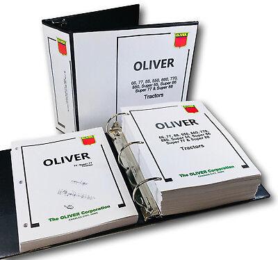Oliver 77 Super 77 Tractor Service Repair Manual Parts Catalog Workshop Book