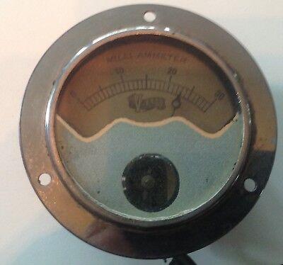 Vintage Victor X-ray Milli-ammeter 3.75 Diameter Steampunk