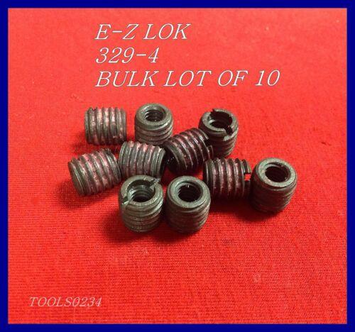 E-Z LOK 329-4 Threaded Inserts 1/4-20 Internal X 7/16-14 External Lot of 10 USA