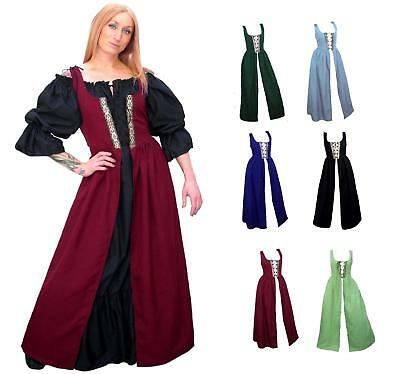 RENAISSANCE MEDIEVAL CLOTHES COSTUME PIRATE PEASANT FAIR WENCH IRISH OVER DRESS  - Medieval Clothing