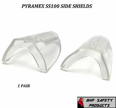 Clear Universal Flexible Safety Side Shields Eye Glasses Pyramex Ss100 1 Pair