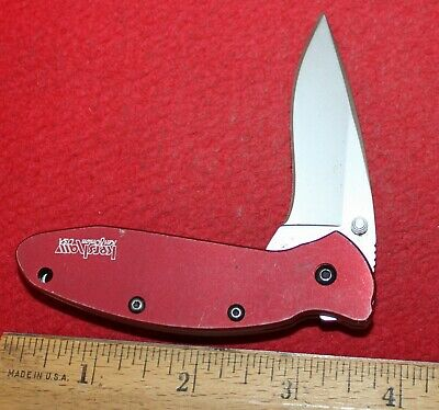 Kershaw 1620RD Single Blade Liner Lock Pattern Knife Blade Liner Lock Knife