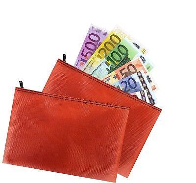 2 x Banktasche ORANGE Geldtasche Geldmappe Geldscheintasche Aufbewahrungstasche
